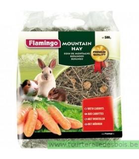 Foin de montagne avec carottes 500 grs
