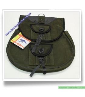 Sacoche de cuir nubuck vert olive