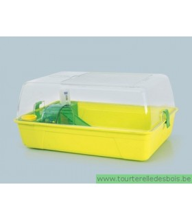 RODY Cage hamster avec plexi citron vert