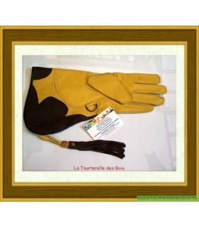 Gant cuir jaune et noir 36.5cm